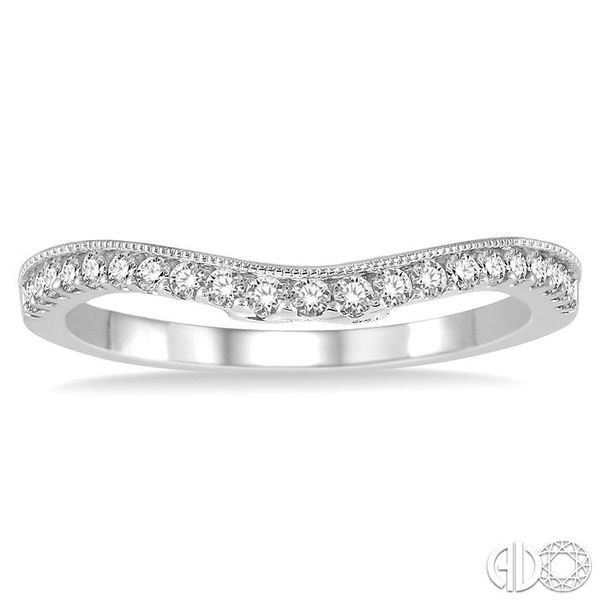 1/4 Ctw Round Cut Diamond Wedding Band in 14K White Gold Image 2 Coughlin Jewelers St. Clair, MI
