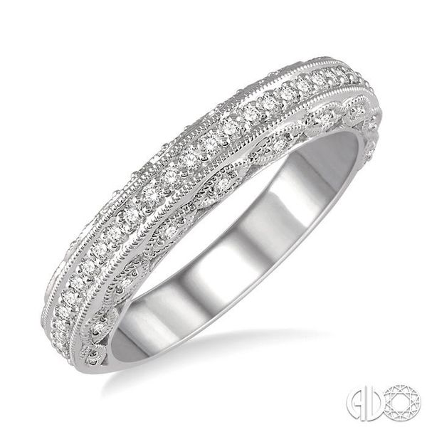 1/3 Ctw Round Cut Diamond Wedding Band in 14K White Gold Coughlin Jewelers St. Clair, MI