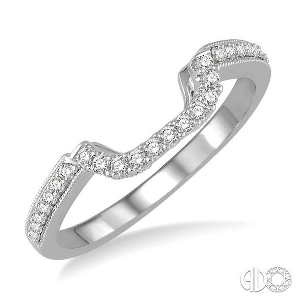 1/6 Ctw Round Diamond Wedding Band in 14K White Gold Coughlin Jewelers St. Clair, MI