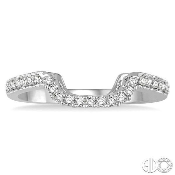 1/6 Ctw Round Diamond Wedding Band in 14K White Gold Image 2 Coughlin Jewelers St. Clair, MI