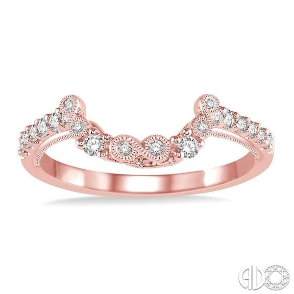 1/4 Ctw Round Cut Diamond Wedding Band in 14K Rose Gold Image 2 Coughlin Jewelers St. Clair, MI