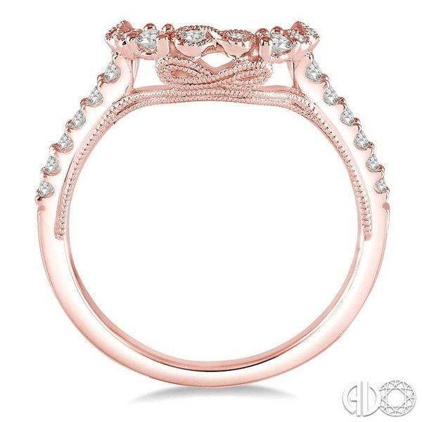 1/4 Ctw Round Cut Diamond Wedding Band in 14K Rose Gold Image 3 Coughlin Jewelers St. Clair, MI