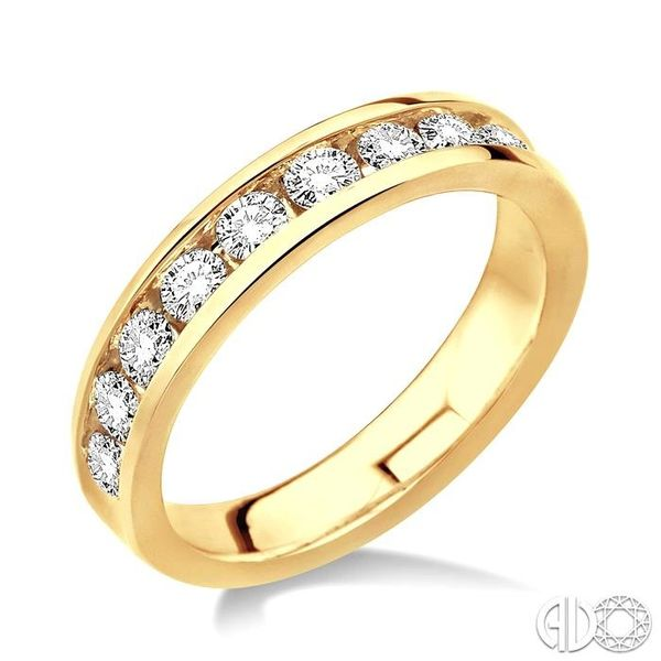 1 Ctw Round Cut Diamond Wedding Band in 14K Yellow Gold Coughlin Jewelers St. Clair, MI