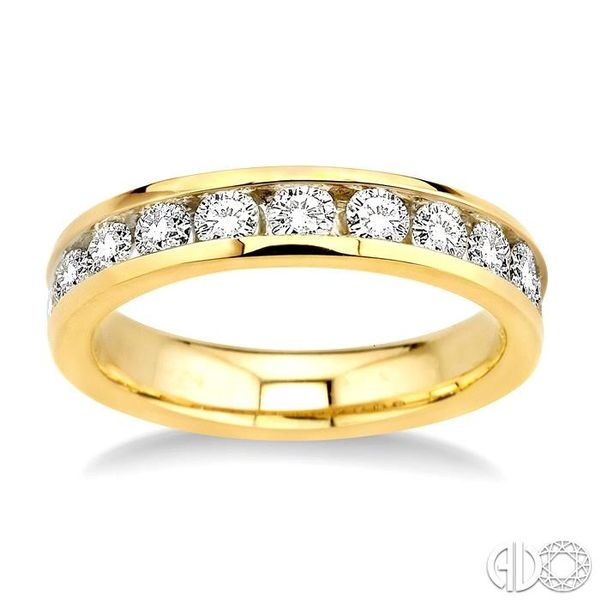 1 Ctw Round Cut Diamond Wedding Band in 14K Yellow Gold Image 2 Coughlin Jewelers St. Clair, MI