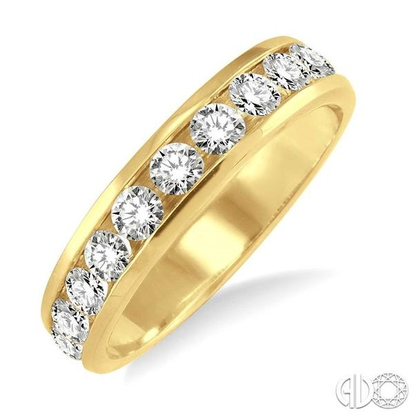 3/4 Ctw Round Cut Diamond Wedding Band in 14K Yellow Gold Coughlin Jewelers St. Clair, MI