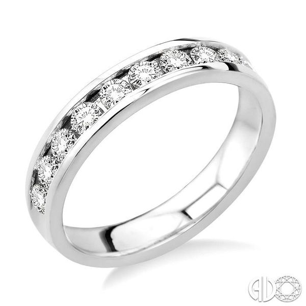 3/4 Ctw Round Cut Diamond Wedding Band in 14K White Gold Coughlin Jewelers St. Clair, MI