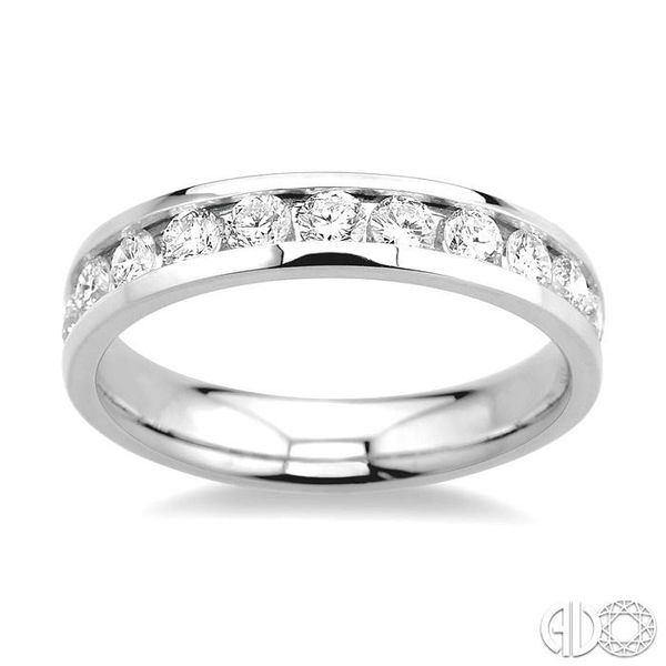 3/4 Ctw Round Cut Diamond Wedding Band in 14K White Gold Image 2 Coughlin Jewelers St. Clair, MI