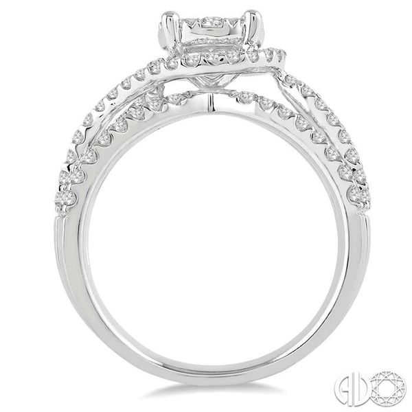 1 Ctw Diamond Lovebright Ring in 14K White Gold Image 3 Coughlin Jewelers St. Clair, MI