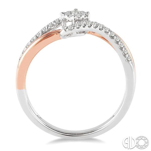 1/4 Ctw Lovebright Round Cut Diamond Ring in 10K White and Rose Gold Image 3 Coughlin Jewelers St. Clair, MI