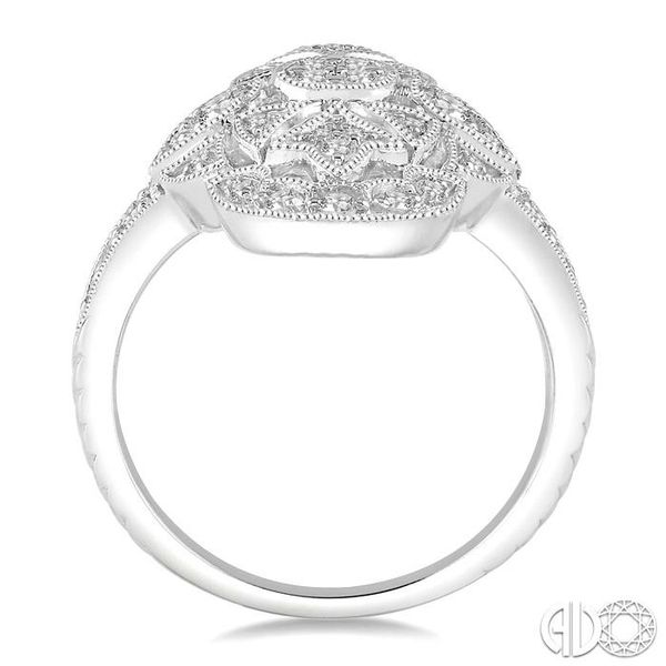1/2 Ctw Ornamental Round Cut Diamond Ladies Ring in 14K White Gold Image 3 Coughlin Jewelers St. Clair, MI