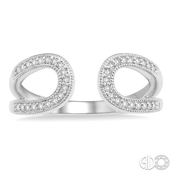 1/6 Ctw Horseshoe Style Open End Round Cut Diamond Ladies Ring in 10K White Gold Image 2 Coughlin Jewelers St. Clair, MI