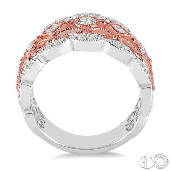 3/4 Ctw Round and Princess Cut Diamond Fashion Band in 14K White and Rose Gold Image 3 Coughlin Jewelers St. Clair, MI
