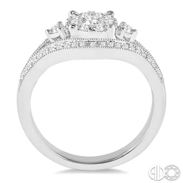 5/8 Ctw Round Cut Diamond Lovebright Ring in 14K White Gold Image 3 Coughlin Jewelers St. Clair, MI