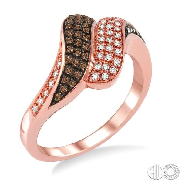 1/4 Ctw White and Champagne Brown Diamond Ring in 14K Rose Gold Coughlin Jewelers St. Clair, MI