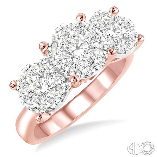 2 Ctw Lovebright Round Cut Diamond Ring in 14K Rose and White Gold Coughlin Jewelers St. Clair, MI