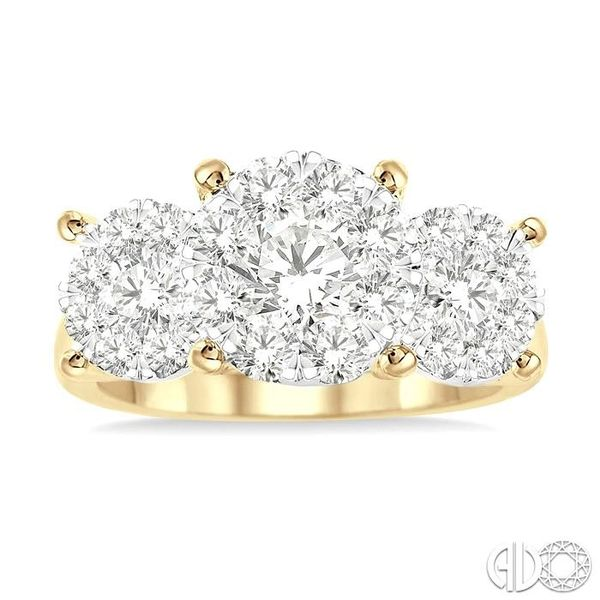 1 1/2 Ctw Lovebright Round Cut Diamond Ring in 14K Yellow and White Gold Image 2 Coughlin Jewelers St. Clair, MI