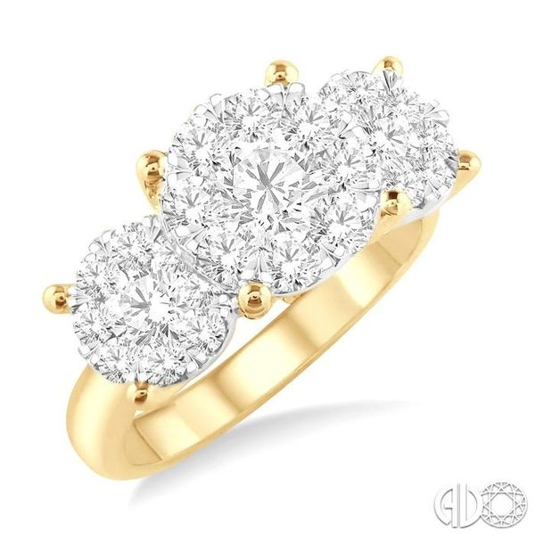 2 Ctw Lovebright Round Cut Diamond Ring in 14K Yellow and White Gold Coughlin Jewelers St. Clair, MI