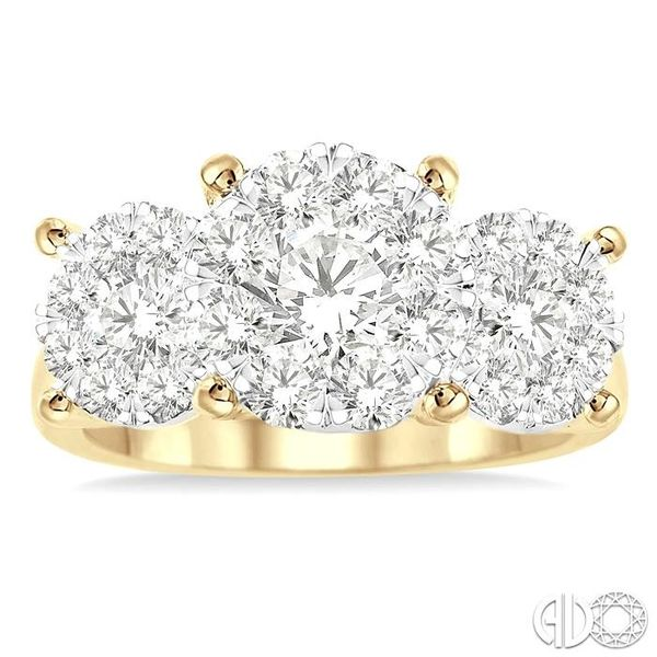 2 Ctw Lovebright Round Cut Diamond Ring in 14K Yellow and White Gold Image 2 Coughlin Jewelers St. Clair, MI