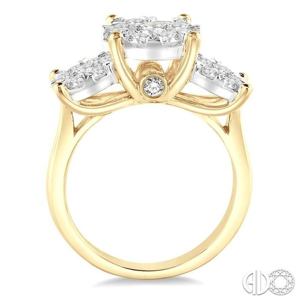 2 Ctw Lovebright Round Cut Diamond Ring in 14K Yellow and White Gold Image 3 Coughlin Jewelers St. Clair, MI