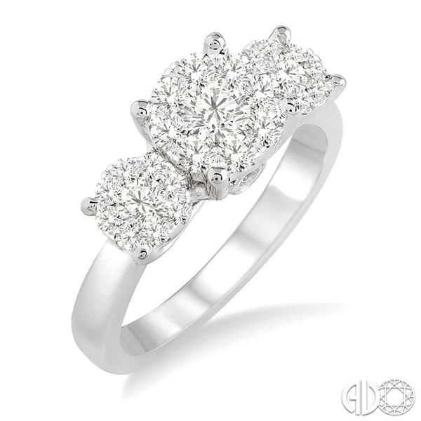 1 Ctw Lovebright Round Cut Diamond Ring in 14K White Gold Coughlin Jewelers St. Clair, MI