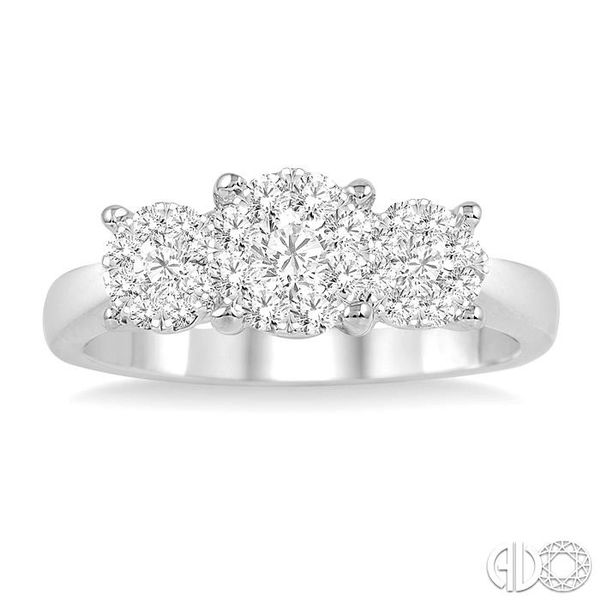 1 Ctw Lovebright Round Cut Diamond Ring in 14K White Gold Image 2 Coughlin Jewelers St. Clair, MI