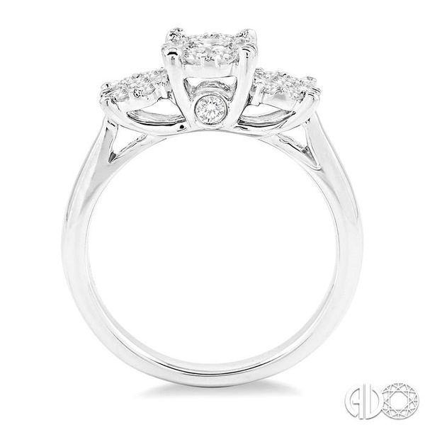 1 Ctw Lovebright Round Cut Diamond Ring in 14K White Gold Image 3 Coughlin Jewelers St. Clair, MI