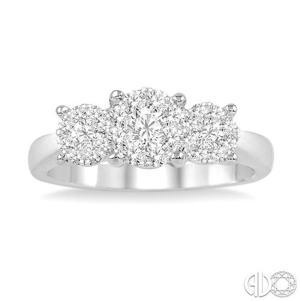 3/4 Ctw Lovebright Round Cut Diamond Ring in 14K White Gold Image 2 Coughlin Jewelers St. Clair, MI