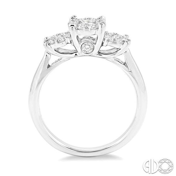 3/4 Ctw Lovebright Round Cut Diamond Ring in 14K White Gold Image 3 Coughlin Jewelers St. Clair, MI