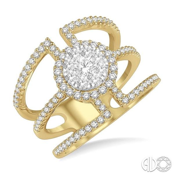 1 Ctw Round Shape Mount Lovebright Round Cut Diamond Ring in 14K Yellow and White Gold Coughlin Jewelers St. Clair, MI