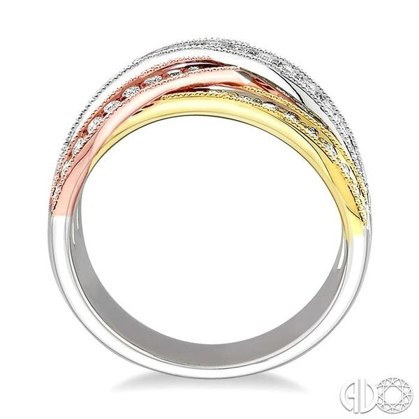 1/2 Ctw Round Cut Diamond Fashion Band 14K Tri Color Gold Image 3 Coughlin Jewelers St. Clair, MI