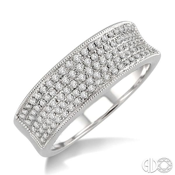 1/2 Ctw Round Cut Diamond Fashion Band in 14K White Gold Coughlin Jewelers St. Clair, MI