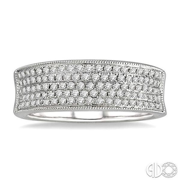 1/2 Ctw Round Cut Diamond Fashion Band in 14K White Gold Image 2 Coughlin Jewelers St. Clair, MI