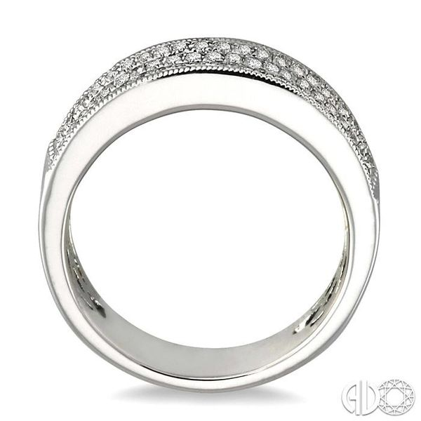1/2 Ctw Round Cut Diamond Fashion Band in 14K White Gold Image 3 Coughlin Jewelers St. Clair, MI