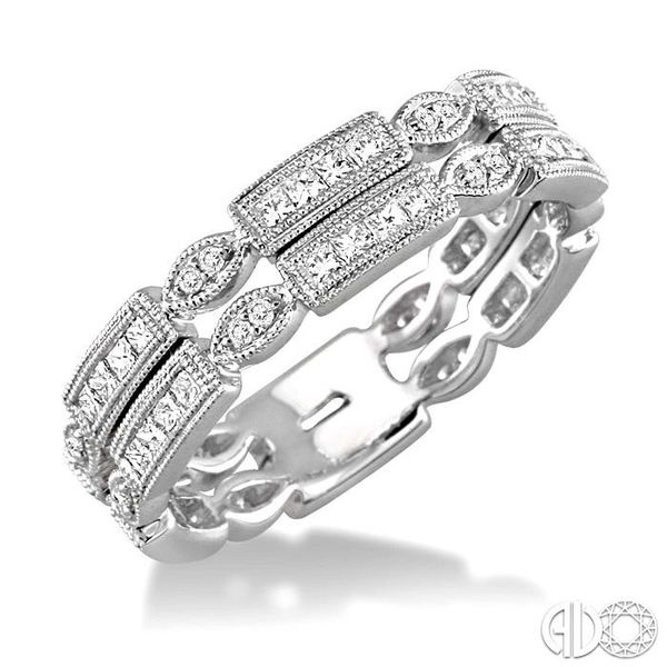 5/8 Ctw Diamond Fashion Ring in 14K White Gold Coughlin Jewelers St. Clair, MI