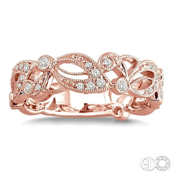 1/5 Ctw Diamond Fashion Ring in 14K Rose Gold Image 2 Coughlin Jewelers St. Clair, MI