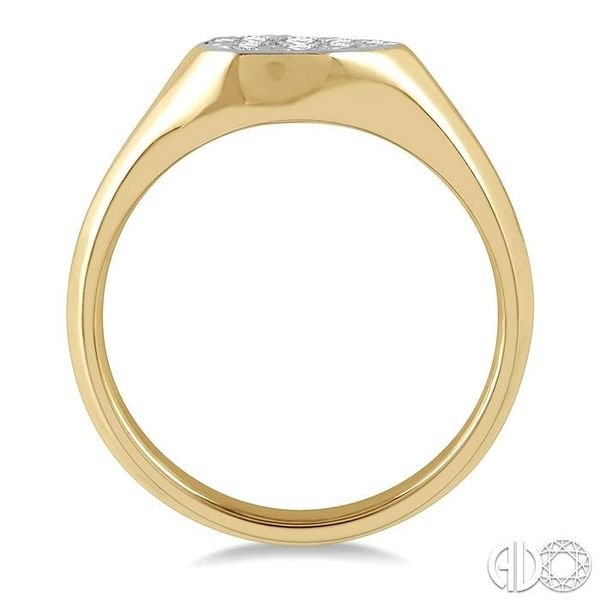 1/4 ctw Pear Shape Lovebright Diamond Ring in 14K Yellow and White Gold Image 3 Coughlin Jewelers St. Clair, MI