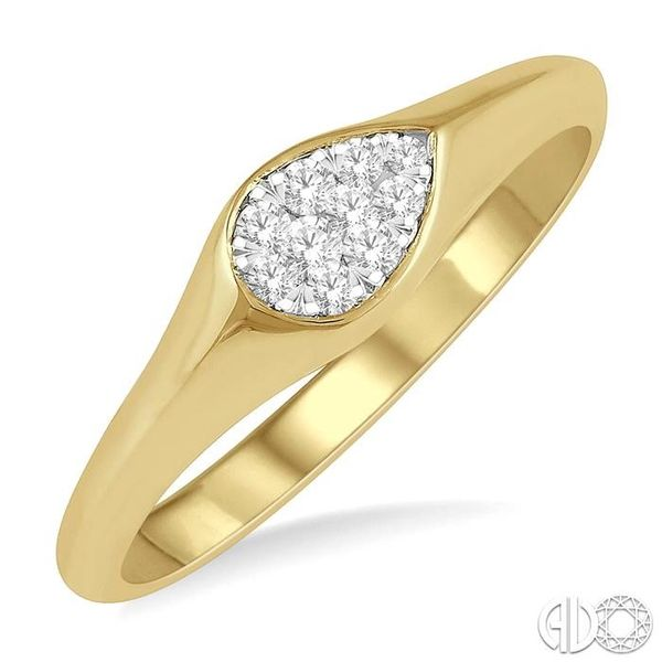 1/10 ctw Pear Shape Lovebright Diamond Ring in 14K Yellow and White Gold Coughlin Jewelers St. Clair, MI
