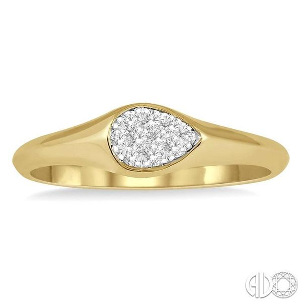 1/10 ctw Pear Shape Lovebright Diamond Ring in 14K Yellow and White Gold Image 2 Coughlin Jewelers St. Clair, MI