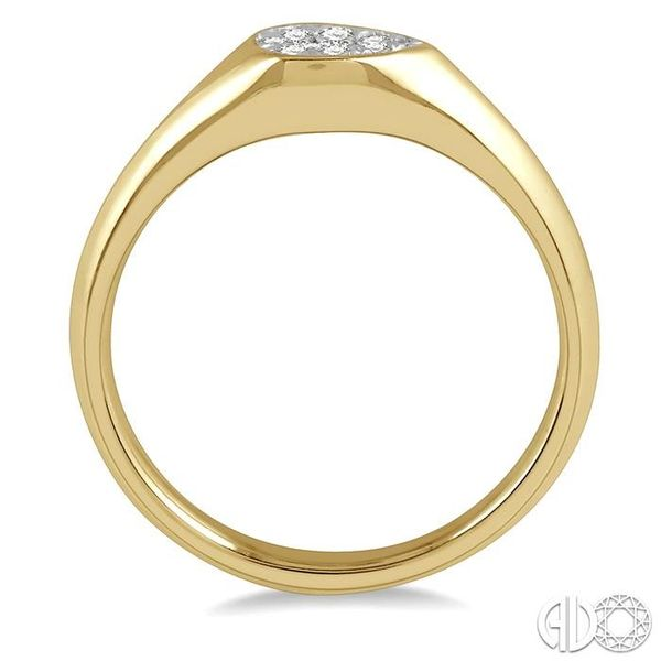 1/10 ctw Pear Shape Lovebright Diamond Ring in 14K Yellow and White Gold Image 3 Coughlin Jewelers St. Clair, MI