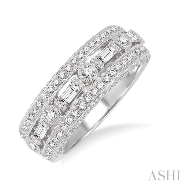 7/8 Ctw Diamond Fashion ring in 14K White Gold Coughlin Jewelers St. Clair, MI