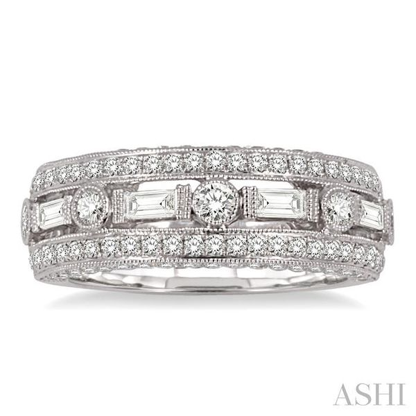 7/8 Ctw Diamond Fashion ring in 14K White Gold Image 2 Coughlin Jewelers St. Clair, MI