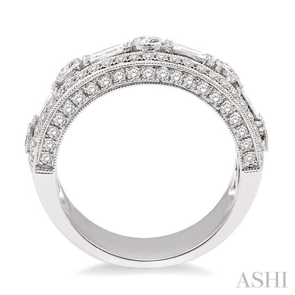 7/8 Ctw Diamond Fashion ring in 14K White Gold Image 3 Coughlin Jewelers St. Clair, MI