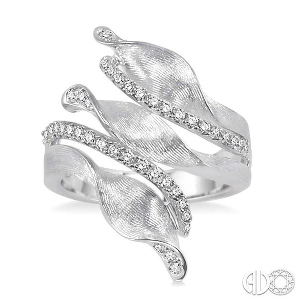 1/2 Ctw Round Cut Diamond Fashion Ring in 14K White Gold Image 2 Coughlin Jewelers St. Clair, MI
