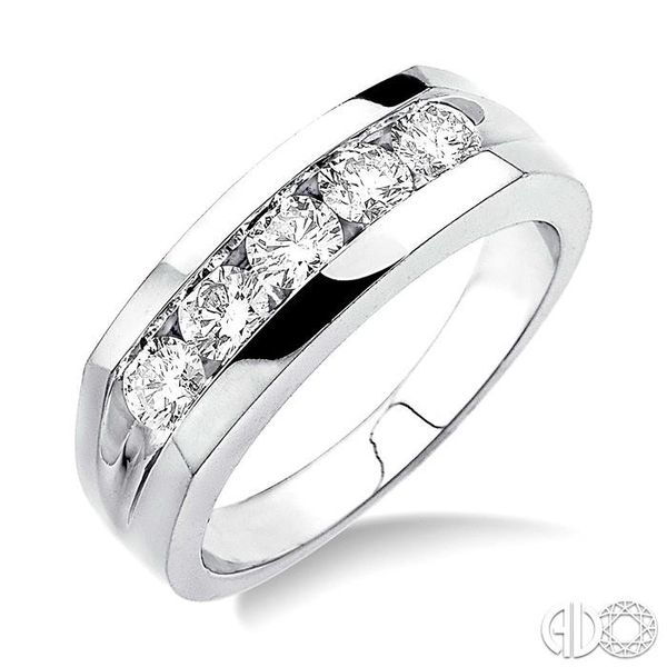 1 Ctw Round Cut Diamond Men's Ring in 14K White Gold Coughlin Jewelers St. Clair, MI