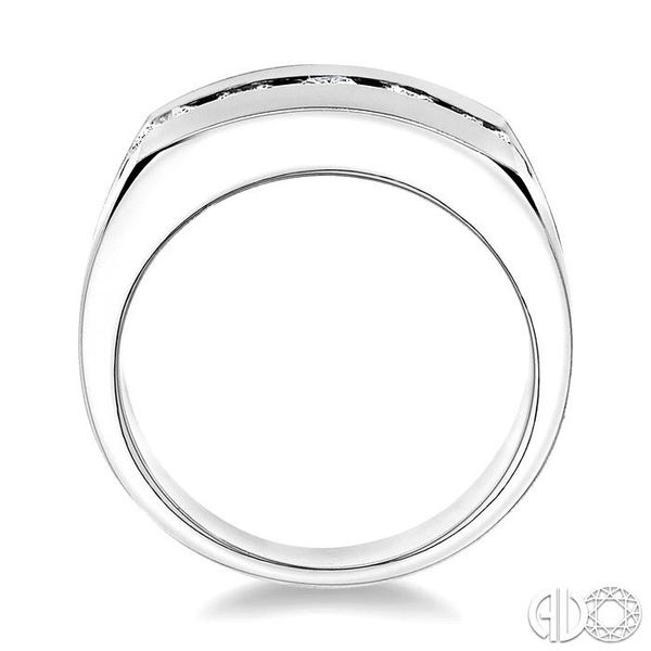 1 Ctw Round Cut Diamond Men's Ring in 14K White Gold Image 3 Coughlin Jewelers St. Clair, MI