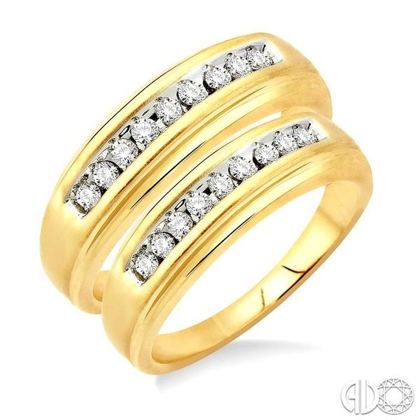 1/3 Ctw Round Cut Diamond Duos Ring Set in 14K Yellow Gold Coughlin Jewelers St. Clair, MI