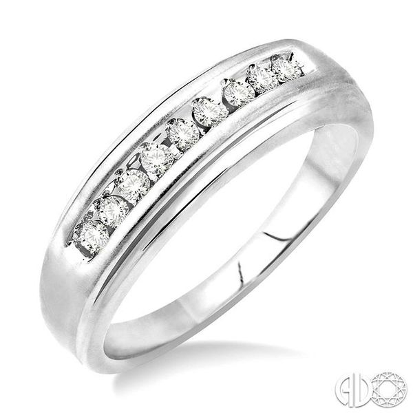 1/4 Ctw Round Cut Diamond Men's Duo Ring in 14K White Gold Coughlin Jewelers St. Clair, MI