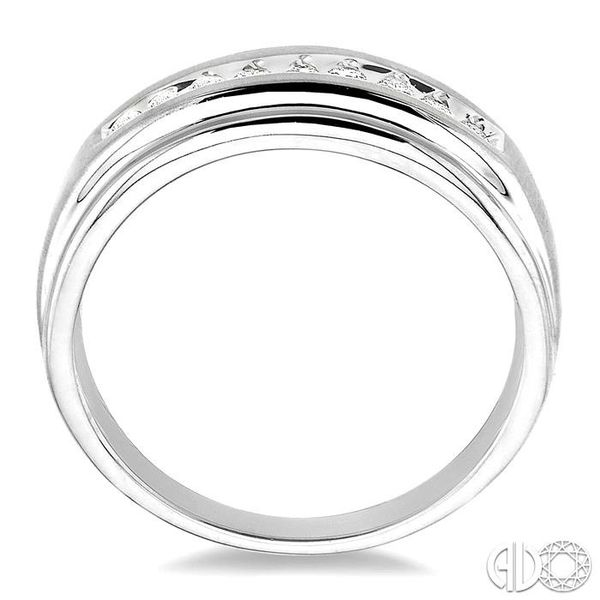 1/4 Ctw Round Cut Diamond Men's Duo Ring in 14K White Gold Image 3 Coughlin Jewelers St. Clair, MI