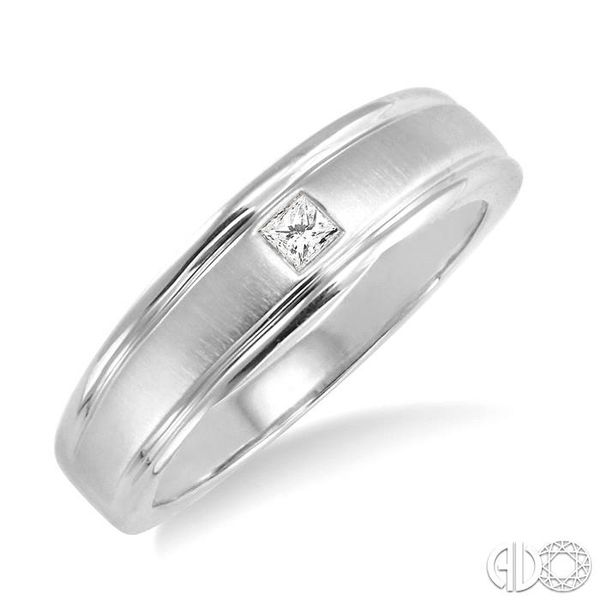 1/20 Ctw Princess Cut Diamond Ladies Duo Ring in 14K White Gold Coughlin Jewelers St. Clair, MI
