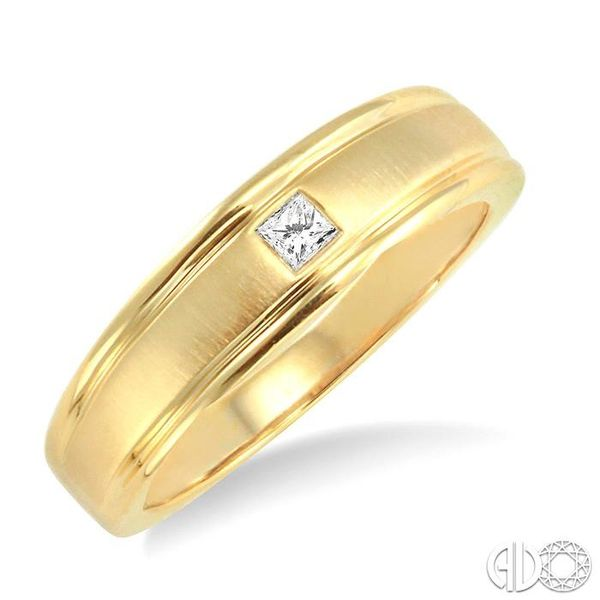 1/20 Ctw Princess Cut Diamond Ladies Duo Ring in 14K Yellow Gold Coughlin Jewelers St. Clair, MI